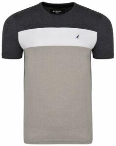 Kangol Zeek Boys' T-shirt Grey/Multi Size 11-12 Years Brand New Free P&P UK