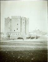 Espgane Cordova Château Tori c1900, Foto Stereo Vintage Placca Lente VR7L4