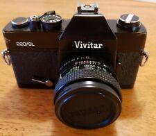 Vintage Vivitar 220/SL 35mm Film Camera, 50mm Lens & Leather Case Japan