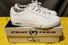 PHAT FARM LEATHER COUNTRY CLUB WHITE SHOES MENS US 8.5 w/ BOX RARE THROWBACK HIP