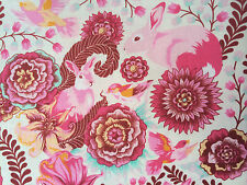 By 1/2 Yard Free Spirit Fox Field Tula Pink Fabric Foxtrot Sunrise ~ fox rabbit