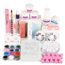 Pro Acrylic Kit Liquid Set Nail Extension Powder Design Salon Starter DIY Art UK