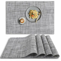 Placemats Set of 4, Table Mats Easy to Clean Heat Resistant Non Slip Wipeable