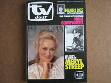 TV JOUR 82/05 (3/2/82) MERYL STREEP HENRI DES COMPANEEZ