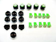 "15 Green 4 LEDs Lights Bulbs 1/2"" Sockets Side Marker License Plate For Imports"
