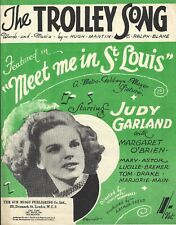 """Trolley Song"" JUDY GARLAND / Hugh Martin & Ralph Blane 1944 London Sheet Music"