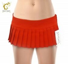 "New Girls / Ladies 7"" Pleated Mini Short Skirt Red Black White Womens  Skirts"