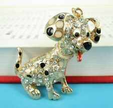 Dog Lovely Creative Pendent Charm Chain Rhinestone Crystal Purse Bag Key Ring Gi