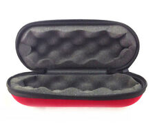 """Brand New 9"""" X 4"""" X 4"""" inches Pipe Travel Pouch Large Hard Case Zippered Red"""