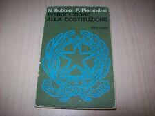 NORBERTO BOBBIO/PIERANDREI-INTRODUZIONE ALLA COSTITUZIONE-SCOLASTICA LATERZA '69