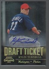 KYLIN TURNBULL  2011 PLAYOFF CONTENDERS DRAFT TICKET AUTO #DT28