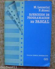 Ejercicios de Programación en Pascual/ M. Lenzerini y P. Atzeni/ GG/ 1987