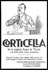 PUBBLICITA' 1921 CORTICELLA ACQUA MINERALE WATER ANTICHE FONTI BORGHI BOLOGNA