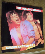 """Rolling Stones 1982 European Large Tour Program 12""""x12"""" 28 Glossy Pages VG Cond."""
