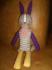 Petit Collage Modern Coll Funny Bunny Fabric Plush Rabbit Cotton Fabric