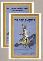 Juxaktien-Set - 2 Stück FIT FOR EUROPE – DEKORATIV und AKTUELL !!!