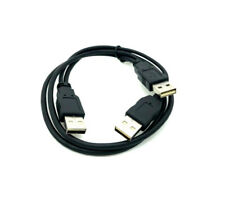 USB 2.0 High Speed Dual Type A Male to Male X2 Y Cable Cord HUB HDD 1FT/3FT