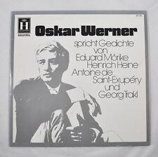 LP: Oskar Werner parla poesie V. Mörike Heine Saint-Exupéry 2571034 HELIODOR