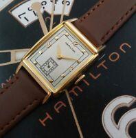 Vintage 1949 Mans Hamilton SHERMAN Hand Wind Serviced Ready To Wear W/ WARRANTY