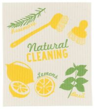 Now Designs Natural Cleaning Swedish Dishcloth Print NWT 100% Natural Lemon