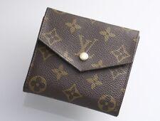 H2878M Authentic Louis Vuitton Monogram W Hook Bifold Wallet