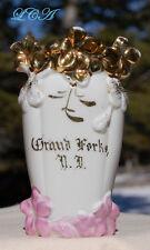 Antique GRAND FORKS NORTH DAKOTA  porcelain vase over ONE CENTURY old