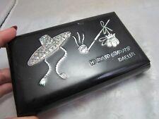 Black lacquerware wood box w/ mother of pearl inlay. Harvard 82nd AMP DAELIM