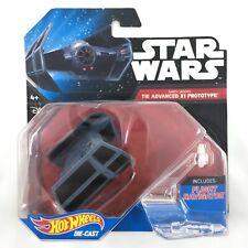 Star Wars Hot Wheel Die Cast Darth Vader Tie Advanced X1 Prototype Starship NEW