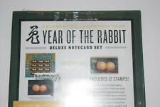 "Usps ""Year of The Rabbit"" Deluxe Note Card Set, New, Sealed"