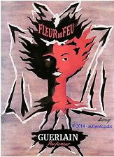 PUBLICITE ANCIENNE DE 1951 GUERLAIN FRENCH PERFUME AD SIGNE DARCY PUB RARE