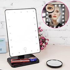 20 illuminato a LED Touch Screen Bianco Cosmetico Da tavola Specchio Trucco
