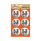 The Simpsons Duff Beer 6 Pcs Table Tennis Ball Set Ping Pong Moes Homer TV Gift