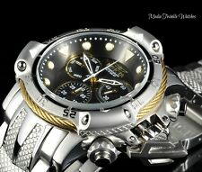New 50MM Invicta Subaqua POSEIDON Gold Tone BOLT Quartz Silver Bracelet Watch