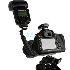 Adjustable L-bracket Dual Hot Shoe Mount For Camera Camcorder Video Light Flash