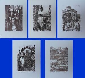 André Couret: 5 Lithographs Original, 300ex, Edition Swiss