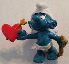 Smurfs Amour Cupid Smurf 20128 Valentine Figure Vintage 80s Toy PVC Lot Figurine