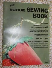 VTG 1964 VOGUE SOFTCOVER SEWING BOOK TECHNIQUES DESIGNERS STYLES FABRICS
