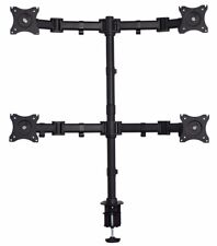 """Quad LCD Desktop Monitor Laptop Table C-Clamp Mount Adjustable Up to 27"""""""