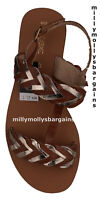 New Womens Gold & Brown Leather NEXT Sandals Size 5.5 RRP £28