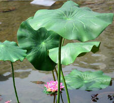5*17CM artificial lotus leaf stem faux flowers silk lotus water lily pond leaf