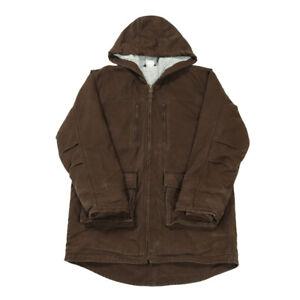 CARHARTT Sherpa Fleece Lined Parka | Large | Coat Jacket Work Canvas Hooded