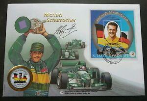 Sao Tome Michael Schumacher F1 Winner Car Racing 1997 Sport FDC (coin cover Rare