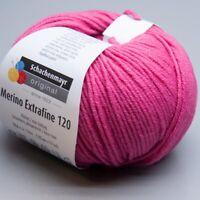 Schachenmayr Merino Extrafine 120 - 137 pink 50g Wolle (9.90 EUR pro 100 g)