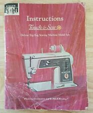 Instructions Manual Book Singer Touch & Sew Zig Zag Sewing Machine Model 625