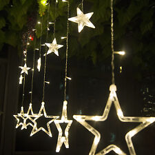 138 LED Twinkling Star Fairy String Lights Xmas Party Wedding Curtain Light Lamp