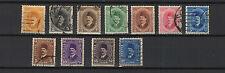 Égypte 1920/30 Roi Fouad 1er  11 timbres oblitérés /T1937