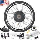 """48V 1000/1500W Electric Bicycle EBike 26"""" Front Rear Wheel Motor Conversion Kit."""