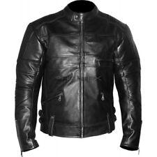 RTX HARLEY BLACK Soft COWHIDE CE Leather Motorcycle Biker Jacket EU58 48in XXXL