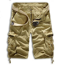 Men's Casual Military Army Cargo Camo Combat Solid Work Shorts Pants Trousers