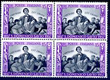 ITALIA 1957 - DOMENICO SAVIO QUARTINA NUOVA **